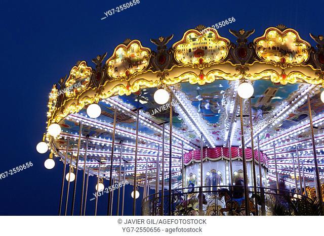 Carousel in Paris, Ile-de-france, France