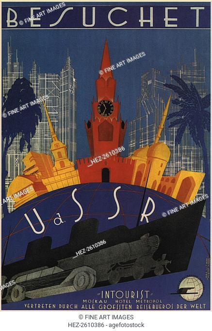 Visit to the USSR, 1930. Artist: Litvak, Max (1898-after 1943)