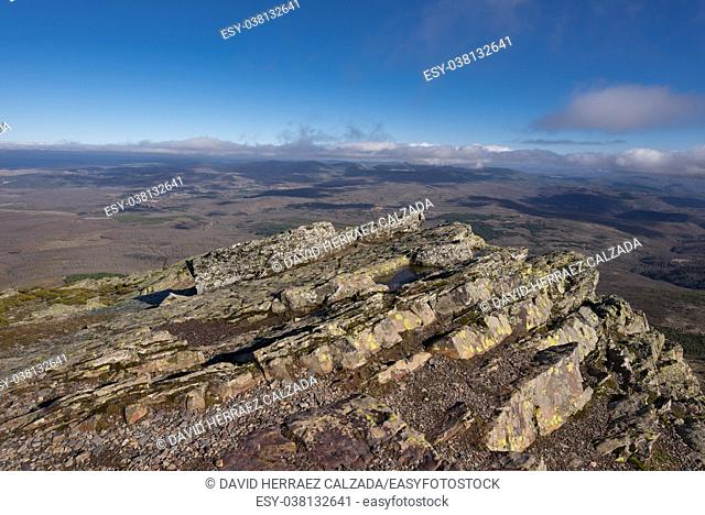 Mountain landscape in Pena the Francia, famous destination in Salamanca, Spain