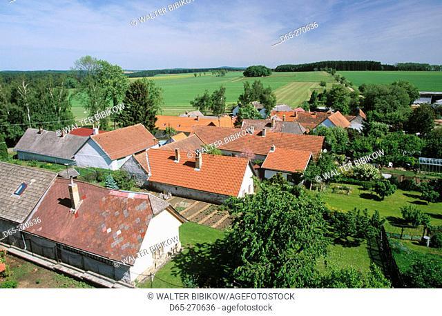 View from castle. Kamen. South Bohemia. Czech Republic