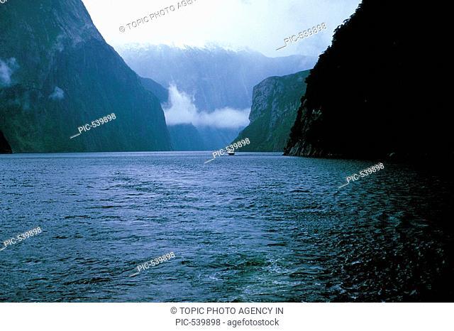 Waterfalls,Milford Sound,New Zealand