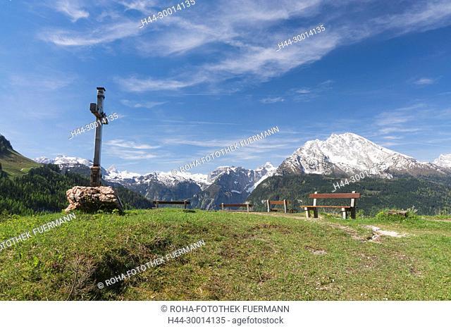 Gipelkreuz am Brandkopf, Watzmann und die Berchtesgadener Alpen - Schönau - Berchtesgaden