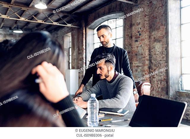 Designers at work in studio