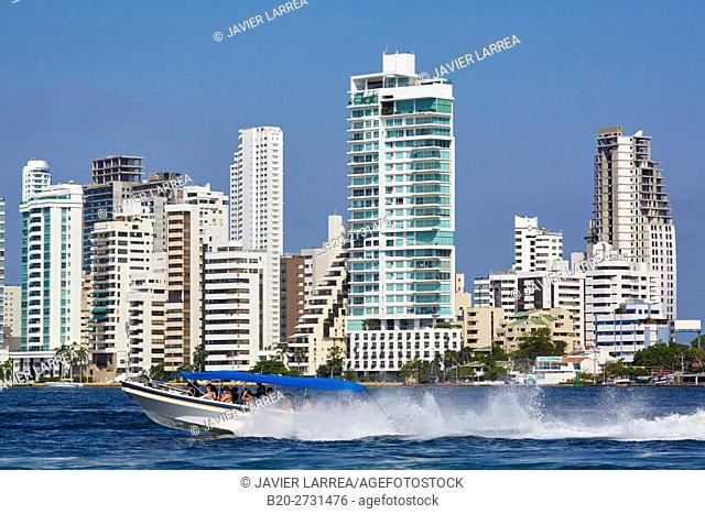 Speedboat excursion to the Rosario Islands, Bocagrande, Cartagena de Indias, Bolivar, Colombia