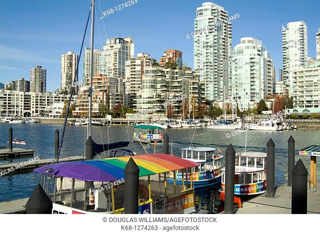 downtown Vancouver from Granville Island, Vancouver, BC, Canada