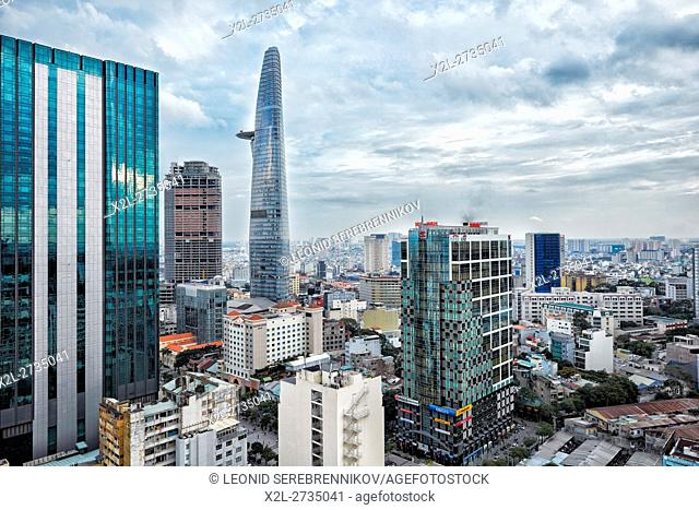 Elevated view of District 1, Ho Chi Minh City, Vietnam