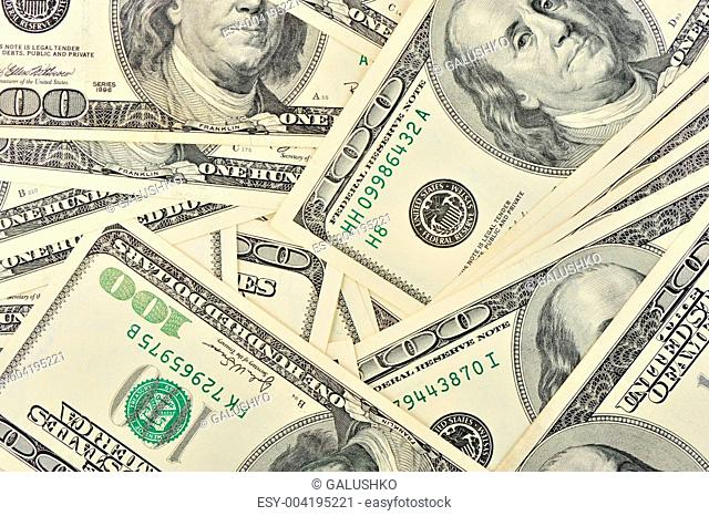 Dollar close up background