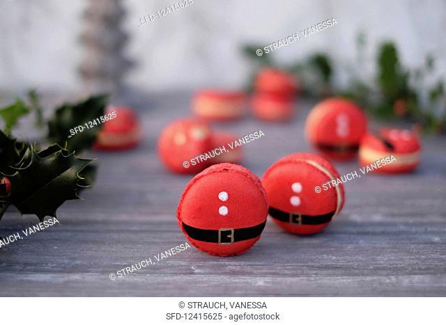 Father Christmas macaroons