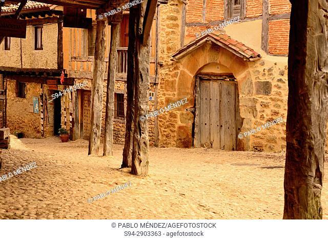 Rustic houses of Calatañazor, Soria, Spain