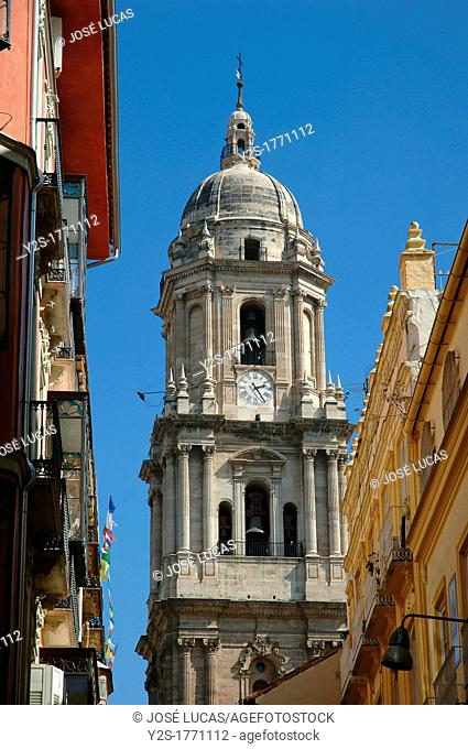 Cathedral-belfry, Malaga, Spain
