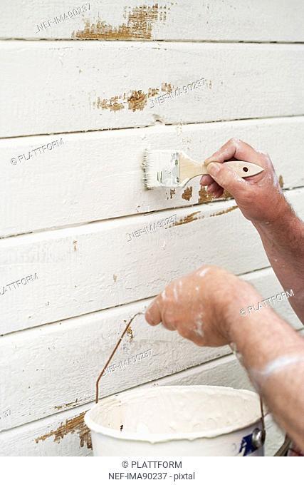 A man renovating a house, Sweden