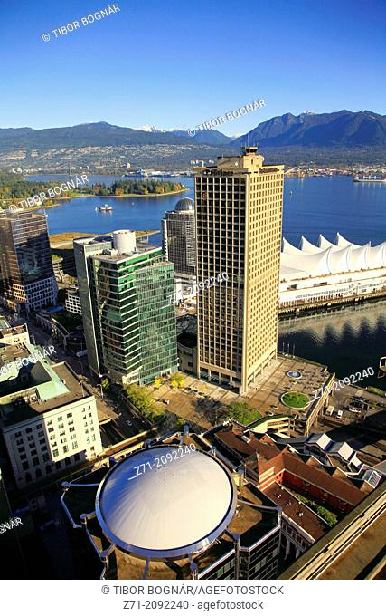Canada, British Columbia, Vancouver, Coal Harbor and Canada Place