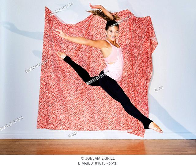 Hispanic ballet dancer routine Stock Photos and Images | age