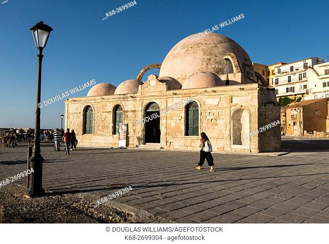 The mosque in the Venetian Harbour in Chania, Crete, Greece