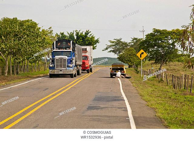 Trucks on the Road Cordoba, Colombia