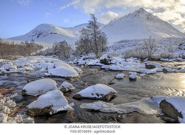 Glen Etive, Glencoe, waterfall, Highlands, Scotland, United Kingdom