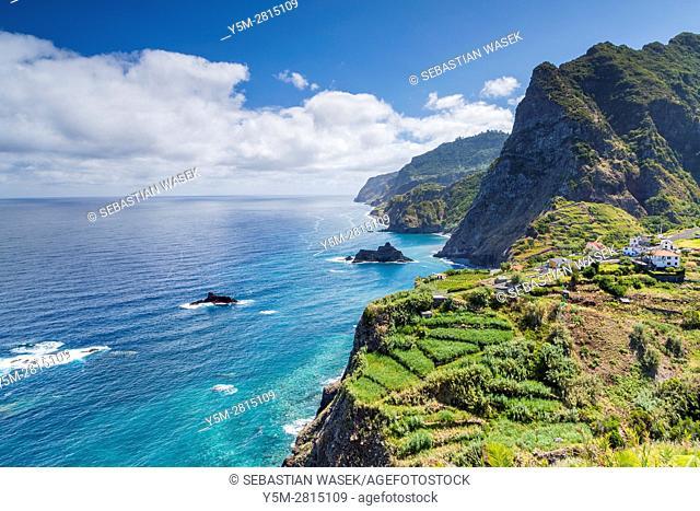 North Coast of Madeira seen from Ponta Delgada, Boaventura, Madeira, Portugal