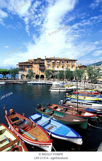 Marina at Lake Garda, Torri del Benaco, Veneto, Italy