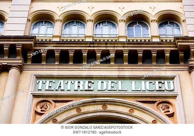 Teatre Liceu, Ramblas of Barcelona Spain Liceu