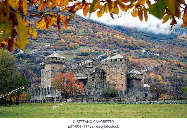 Fenis castle near Aosta Italy