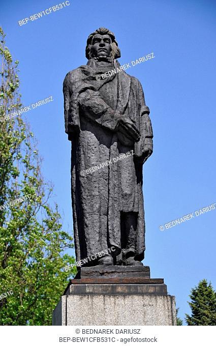 Monument of Adam Mickiewicz in Gorzow Wielkopolski, city in Lubusz Voivodeship, Poland