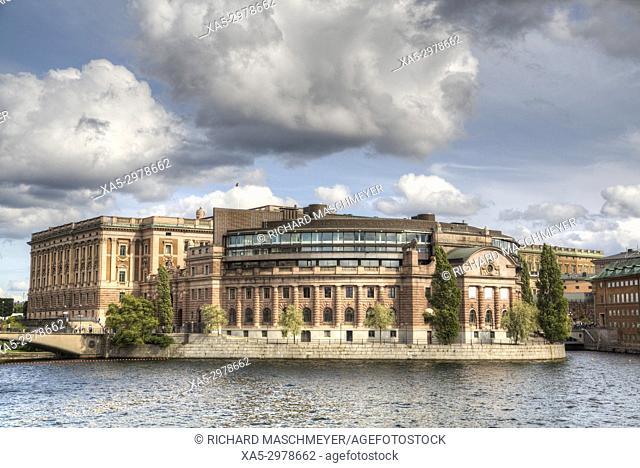 Swedish Parliament Building, Gamla Stan, Stockholm, Sweden