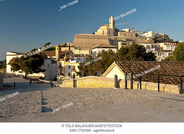 Dalt Vila and cathedral, Spain Ibiza Balearic islands