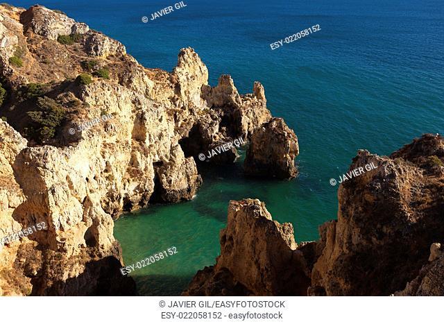 Punta de Piedade in Lagos, Algarve, Portugal