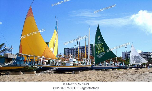 some boats anchored at vitoria vila velha beach sands