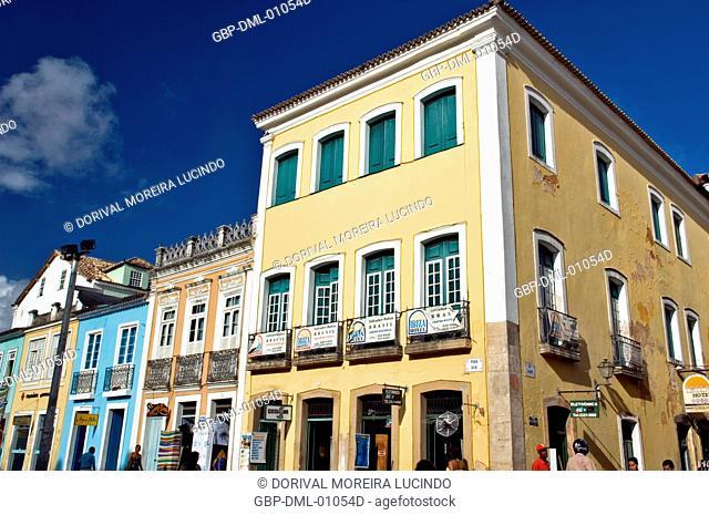 Houses, Sé Square, Salvador, Bahia, Brazil