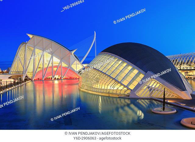 Principe Felipe Science Museum and The Hemisferic, City of Arts and Sciences, Valencia, Spain