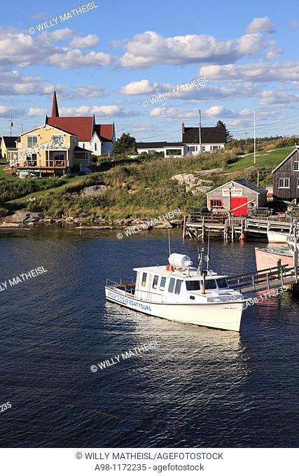 Port of historic fishing port Peggys Cove, Nova Scotia, Canada