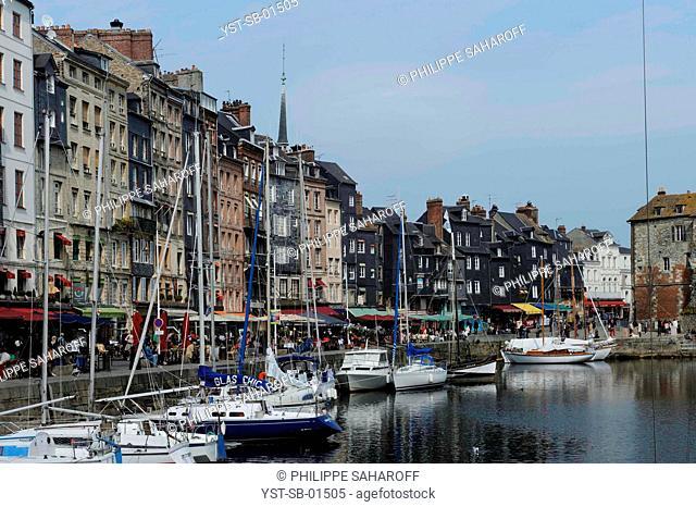 Buildings, Bavole Street, Honfleur, France