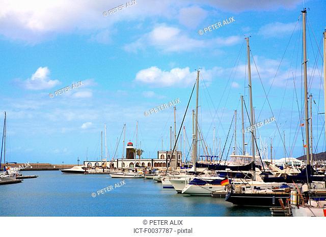 Spain, Canary islands, Lanzarote, Playa blanca, the marina