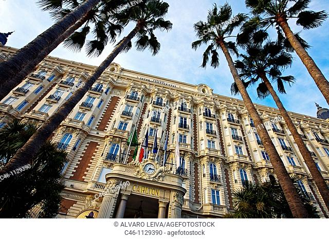 Hotel Carlton on Croisette Avenue. Cannes. Alpes-Maritimes. French Riviera. Provence. France