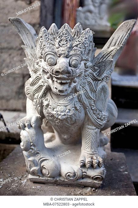 Hindu figure in the temple Pura Desa in the town center, Desa Pakraman Ubud, Ubud, Bali, Indonesia