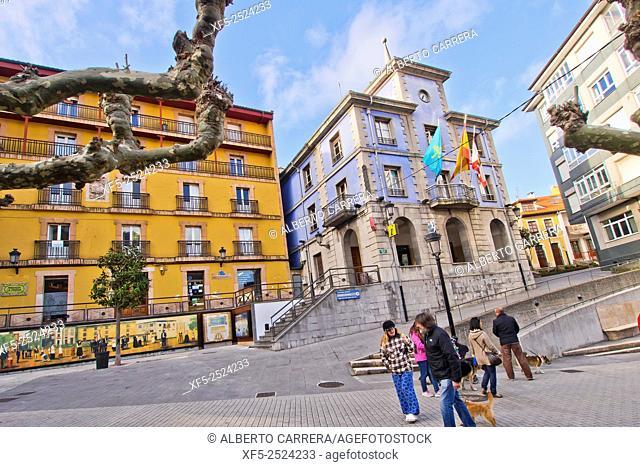 City Council, City Hall, Candás, Asturias, Spain, Europe