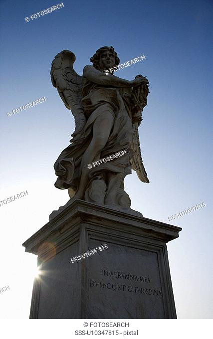 Angel sculpture from Ponte Sant'Angelo bridge in Rome, Italy