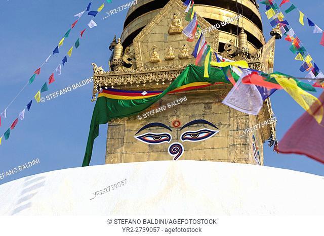 Eyes of the Buddha, Swayambhunath stupa, Kathmandu, Nepal
