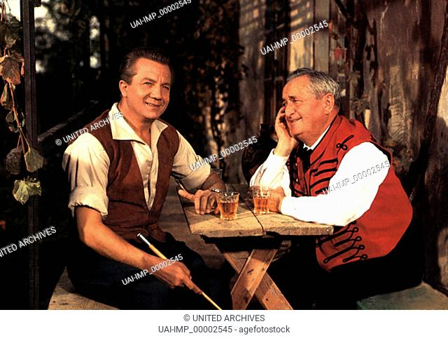 Gräfin Mariza, (GRÄFIN MARIZA) D 1958, Regie: Rudolf Schündler, RUDOLF SCHOCK, HANS MOSER