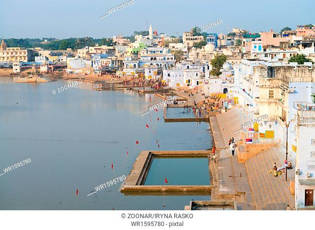 Holy sacred place for Hindus town Pushkar, India