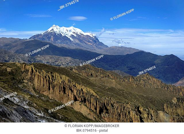 Palca Canyon and the Illimani Glacier, 6439 m, near La Paz, Departamento La Paz, Bolivia