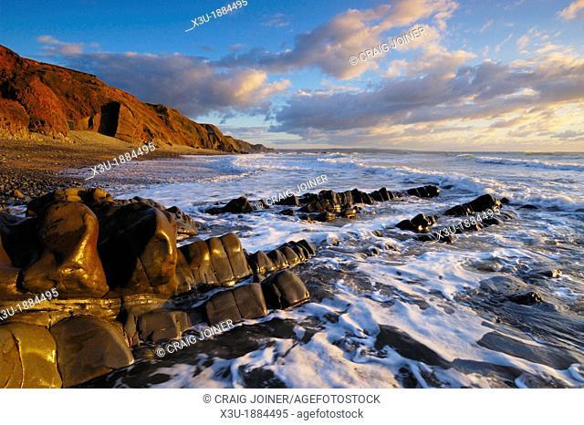 Sandymouth on the North Cornwall coast, Bude, Cornwall, England, United Kingdom