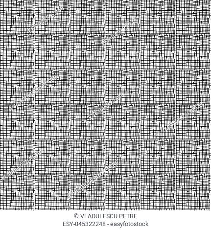 pattern with black outlines on white background