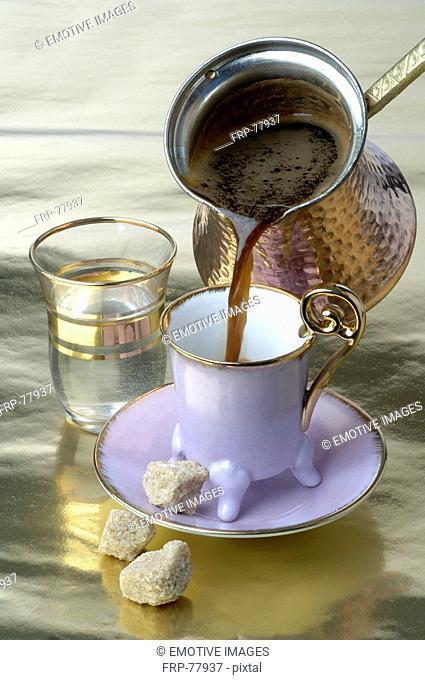 Making a Turkish coffee