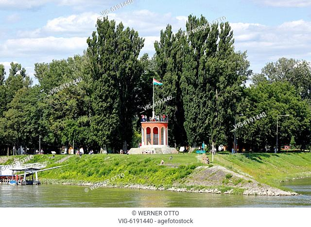 Hungary, Southern Hungary, Baja on the Danube, Pannonian Plain, Southern Great Hungarian Plain, Bacs-Kiskun County, Tuerr Istvan Monument in honour to the...