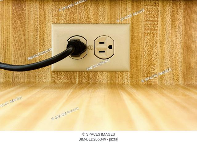 Wall Socket With Power Cable