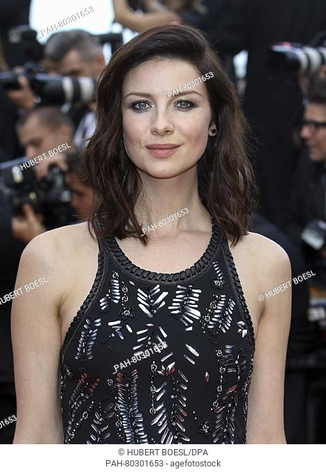 Caitriona Balfe attends the world premiere of Cafe Society and opening night gala of the 69th Annual Cannes Film Festival at Palais des Festivals in Cannes