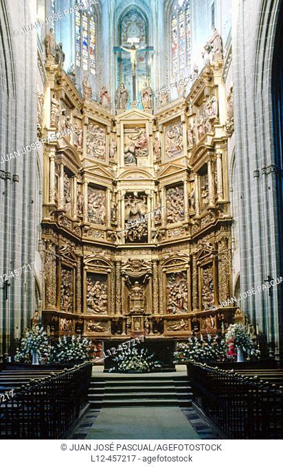 Altarpiece (16th century) in the cathedral, Astorga. León province, Castilla-León, Spain