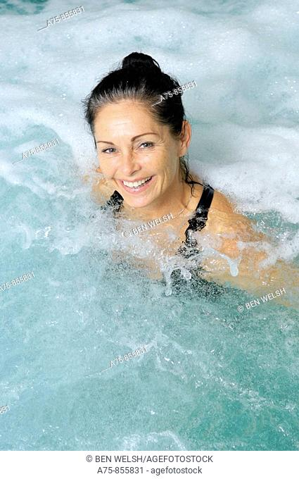 Mature woman in spa